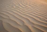 High angle view of wave pattern on sand in desert