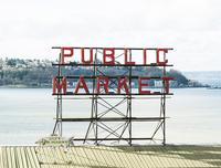 Pike place public market sign