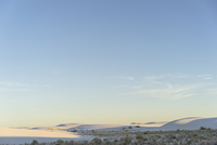 Scenic view of White Sands National Monument during sunset