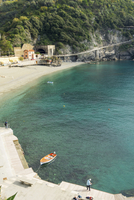 High angle view of beach at Cinque Terre