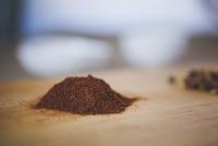 Close-up of garam masala on cutting board