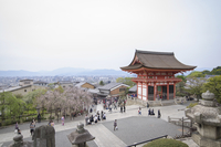 High angle view of Kiyomizu-dera Temple against clear sky 11100052115| 写真素材・ストックフォト・画像・イラスト素材|アマナイメージズ