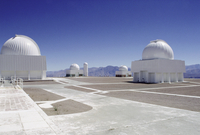 La Silla Observatory against clear blue sky