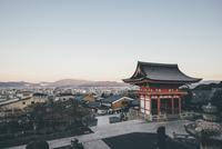 Kiyomizu-dera temple against sky in town