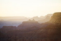 Scenic view of Grand Canyon against clear sky during sunset
