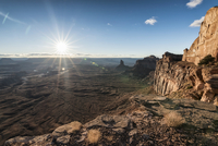Scenic view of rock formations at Canyonlands National Park against sky