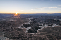 Scenic view of Canyonlands National Park during sunset