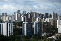 Skyscrapers, cityscape, Salvador also Salvador da Bahia 11102000237| 写真素材・ストックフォト・画像・イラスト素材|アマナイメージズ