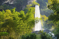 Large waterfall on Baofeng Lake, UNESCO World Heritage