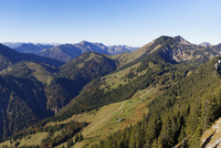 View from Mt Brunnstein, Himmelmoos-Alm, mountain pasture