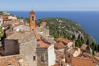 Roofs of the old town, Roquebrune, Cote d'Azur, France
