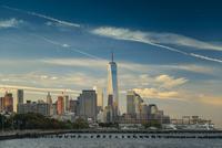 Skyline, morning light, Downtown, Manhattan, New York 11102000556| 写真素材・ストックフォト・画像・イラスト素材|アマナイメージズ