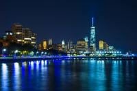 Skyline at night, Downtown, Manhattan, New York, United 11102000559| 写真素材・ストックフォト・画像・イラスト素材|アマナイメージズ