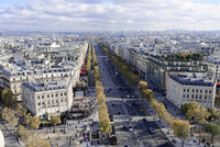 Views of La Defense and the Avenue des Champs-Elysees, the