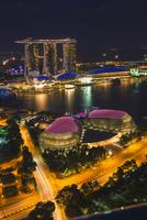 Marina Bay, at night, Singapore, Asia 11102000654| 写真素材・ストックフォト・画像・イラスト素材|アマナイメージズ