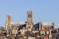 Lincoln Cathedral in winter, Lincoln, Lincolnshire 11102000847| 写真素材・ストックフォト・画像・イラスト素材|アマナイメージズ