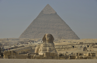 Sphinx or Great Sphinx of Giza, lion with a human head 11102001151| 写真素材・ストックフォト・画像・イラスト素材|アマナイメージズ