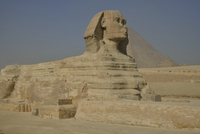 Sphinx or Great Sphinx of Giza, lion with a human head 11102001153| 写真素材・ストックフォト・画像・イラスト素材|アマナイメージズ
