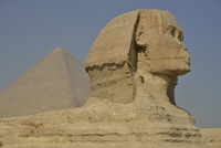Sphinx or Great Sphinx of Giza, lion with a human head 11102001154| 写真素材・ストックフォト・画像・イラスト素材|アマナイメージズ
