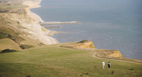 Eype mouth, Dorset coast path to Thornecombe Beacon, Jurassic Coast, near Bridport, Dorset