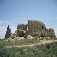 Igit-Kala fortress dating from the 6th century AD, Old Merv, Turkmenia, Turkmenistan
