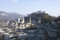 View of Salzburg from the Monchsberg, Salzburg, Austria