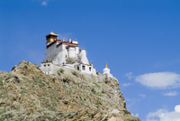 Yumbulagung Castle, restored version of the region's oldest building, Tibet