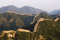 Great Wall of China at Badaling, first built during the Ming dynasty between 1368 and 1644, restored in the 1980s, near Beijing,