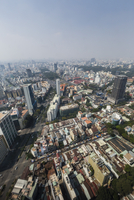 Aerial view of the city of Ho Chi Minh City (Saigon), from the Bitexco Financial Tower, Vietnam, Indochina, Southeast Asia 11104011774| 写真素材・ストックフォト・画像・イラスト素材|アマナイメージズ