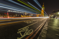The Houses of Parliament and Big Ben from the Westminster Bridge at night
