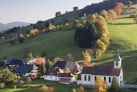 Church in autumn, Wieden, Wiedener Eck, Black Forest, Baden Wurttemberg