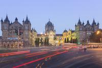 Evening rush hour at the British Raj era Chhatrapati Shivaji Terminus (Victoria Terminus), Mumbai, Maharashtra
