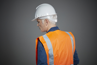 Mature construction worker.