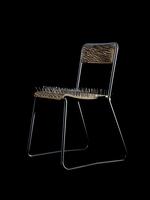 Chair with nails on black background 11107001906| 写真素材・ストックフォト・画像・イラスト素材|アマナイメージズ