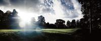 Sunbeam over golf course at Mottram Hall, England 11107002558| 写真素材・ストックフォト・画像・イラスト素材|アマナイメージズ