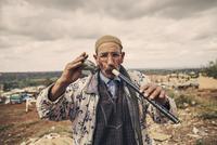 Snake charmer in Morocco