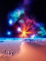 星雲と砂丘 CG