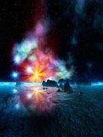 光る星雲 CG