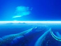 惑星の地形と空 28059000530| 写真素材・ストックフォト・画像・イラスト素材|アマナイメージズ