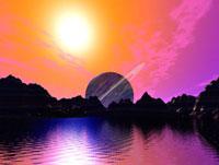 惑星の夕景