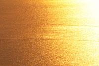 水面に反射する夕陽