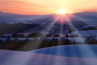 北海道の朝陽