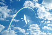 青空と虹と紙飛行機