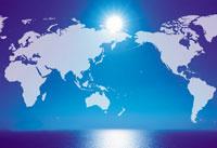世界地図(CG合成)