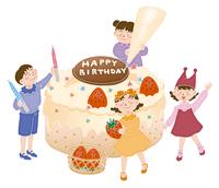 バースデーケーキ 28144080121| 写真素材・ストックフォト・画像・イラスト素材|アマナイメージズ