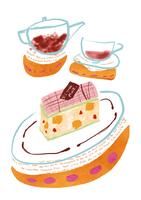 ケーキとティー 28144081142| 写真素材・ストックフォト・画像・イラスト素材|アマナイメージズ