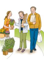 ショッピングをする夫婦