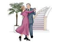ダンスをする夫婦