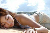 ビーチの女性