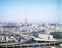 東京タワーと周辺の街並み 28144089002| 写真素材・ストックフォト・画像・イラスト素材|アマナイメージズ